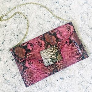 Danielle Nicole snakeskin clutch shoulder bag